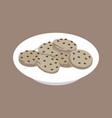 isometric cookies vector image vector image