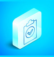 isometric line completed task icon isolated on vector image vector image