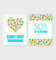 layout a flyer for a candy shop vector image