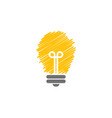 light bulb lamp graphic icon design template vector image vector image