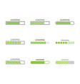 loading bar progress icons vector image vector image