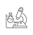 medical research related thin line icon vector image vector image
