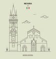 messina cathedral italy vector image vector image