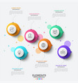 modern infographic template vector image vector image