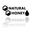 natural honey symbol vector image vector image