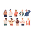 negative gestures flat set vector image