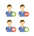people avatars community group vector image