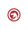 puma logo design vector image vector image
