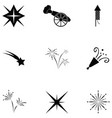 pyrotechnic icon set vector image vector image