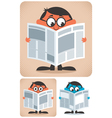 Reading newspaper vector | Price: 3 Credits (USD $3)