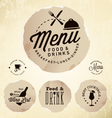 Restaurant Menu Design Elements in Vintage Style vector image vector image
