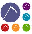 scythe icons set vector image