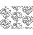 seamless pattern from hand drawing heart vector image vector image