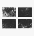 set monochrome abstract grunge textures vector image vector image