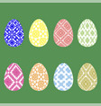 set of easter eggs with different ornaments vector image vector image