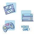set of videogame and consoles vector image vector image