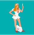 sexy nurse isometric people beautiful young vector image vector image