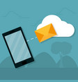 smartphone and email vector image