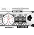 soccer scoreboard poster design football vector image vector image