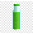 spinach drink bottle icon cartoon style vector image vector image
