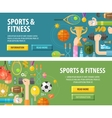 sport logo design template fitness or vector image
