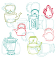teapot doodles vector image