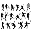 tennis player 5 vector image vector image