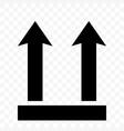 this side up icon fragile box arrow symbol handle vector image vector image