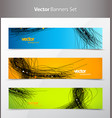 three abstract background banners with black lines vector image vector image