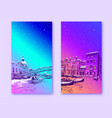 trendy cover template italy venice vector image vector image