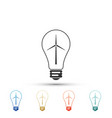 wind turbine and light bulb with leaves icon vector image vector image