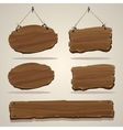 Wood board on the rope vector image vector image