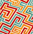 vintage spirals seamless pattern with grunge vector image