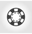grey casino poker chips icon vector image