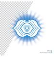 ajna - six chakra human body vector image vector image
