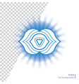 ajna - six chakra of human body vector image vector image