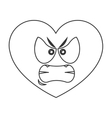 angry heart cartoon icon vector image