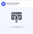 audio player icon filled flat sign solid vector image vector image