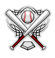 Baseball emblem for sports design or mascot vector image