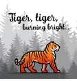 Bengal Tiger in forest poster design Double vector image vector image