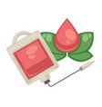 blood donation and dropper isolated object vector image