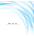 blue lines on a white background vector image vector image