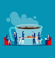business office people on coffee break concept vector image