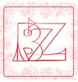 BZ monogram vector image vector image