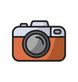 camera icon photo line icon minimalistic vector image
