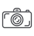 camera line icon lens and photo shutter sign vector image vector image
