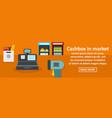 cashbox in market banner horizontal concept vector image