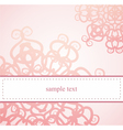 Classic elegant floral card or ornament invitation vector image