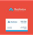 cloud setting logo design with business card vector image vector image