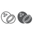 coconut line and glyph icon fruit and coco vector image vector image